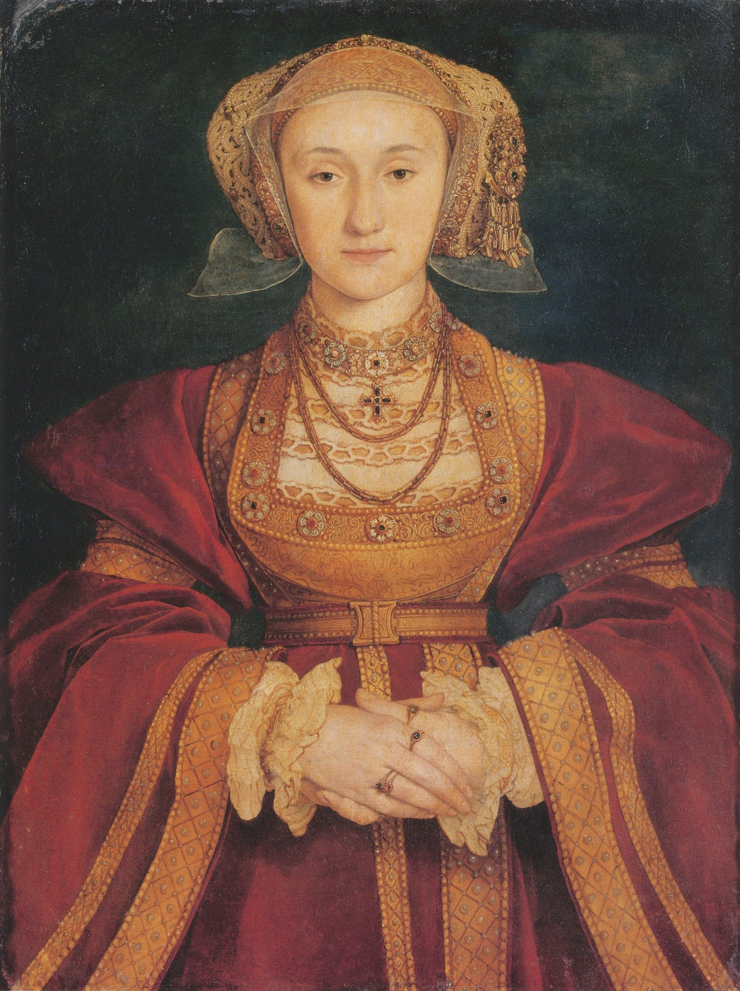 Portrait by Hans Holbein the Younger, c. 1539. Oil and Tempera on Parchment mounted on canvas, Musée du Louvre, Paris.