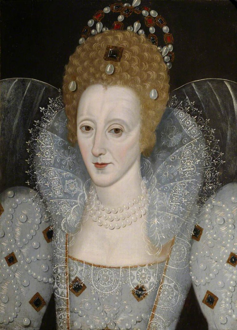 British School; Elizabeth I (1533-1603); St John's College, University of Cambridge; http://www.artuk.org/artworks/elizabeth-i-15331603-139308