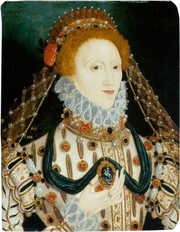 British School; Elizabeth I (1533-1603); Government Art Collection; http://www.artuk.org/artworks/elizabeth-i-15331603-27777