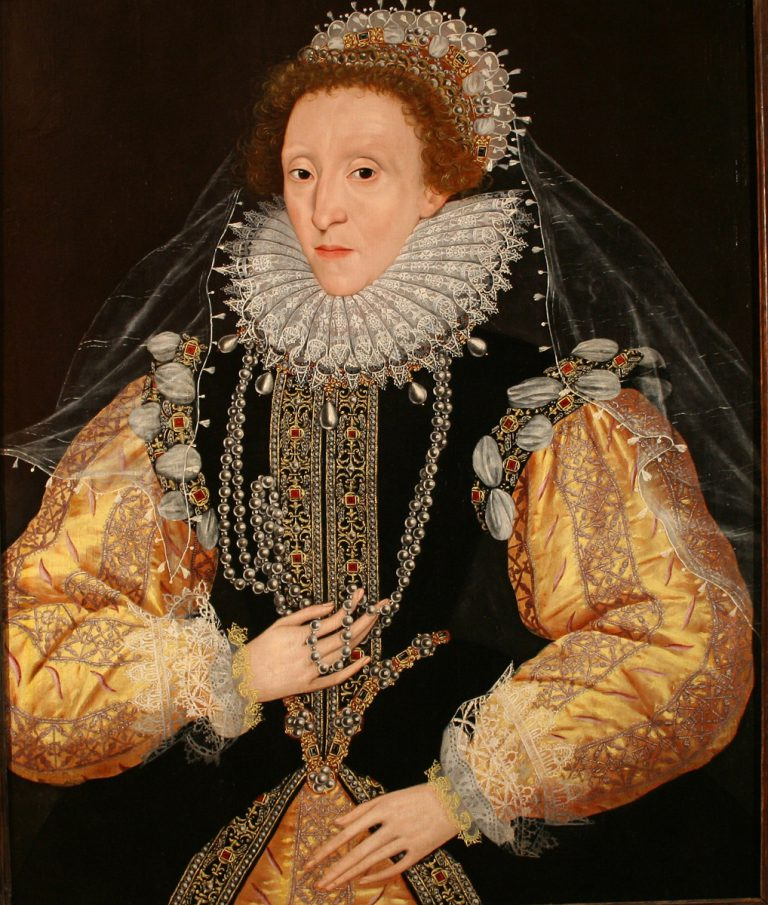 Portrait of Queen Elizabeth I, the 'Drewe Portrait', late 1580s. 1580s George Gower, Attributed to d.1596