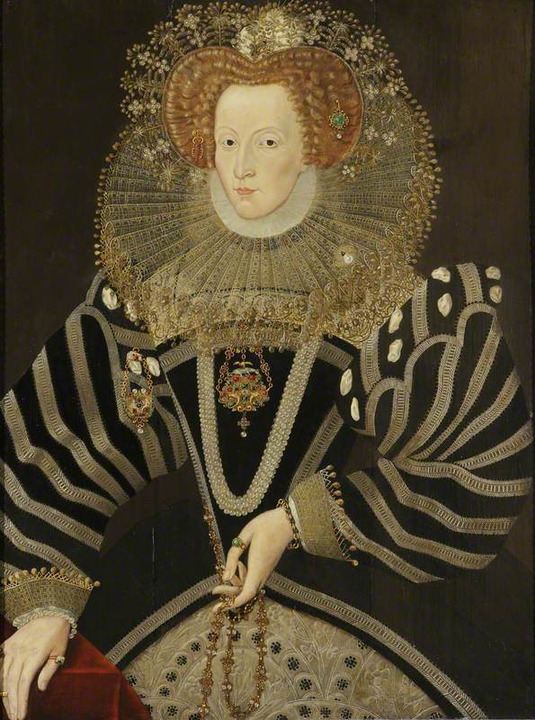 Faithorne, William; Elizabeth I (1533-1603); National Trust, Croft Castle; http://www.artuk.org/artworks/elizabeth-i-15331603-131617