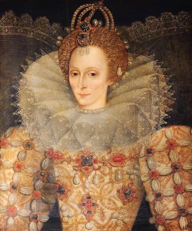 British (English) School; Elizabeth I (1533-1603); National Trust, Plas Newydd; http://www.artuk.org/artworks/elizabeth-i-15331603-102141