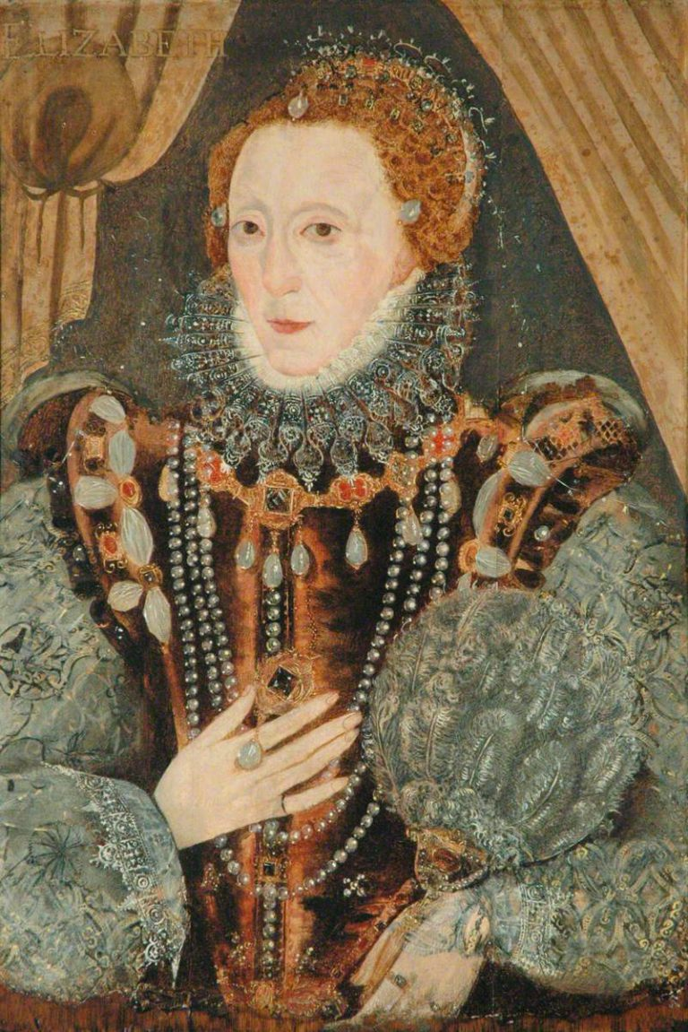 British (English) School; Queen Elizabeth I (1533-1603); The Richmond Collection; http://www.artuk.org/artworks/queen-elizabeth-i-15331603-10101