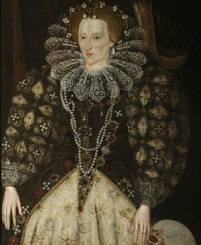 unknown artist; Elizabeth I (1533-1603); Christ Church, University of Oxford; http://www.artuk.org/artworks/elizabeth-i-15331603-229064