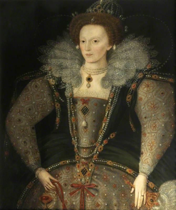 unknown artist; Elizabeth I (1533-1603); Christ Church, University of Oxford; http://www.artuk.org/artworks/elizabeth-i-15331603-228975