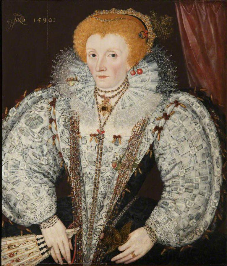 unknown artist; Elizabeth I (1533-1603); Jesus College, University of Oxford; http://www.artuk.org/artworks/elizabeth-i-15331603-222147