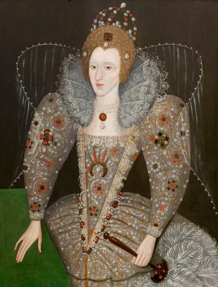 British (English) School; Queen Elizabeth I (1533-1603); Compton Verney; http://www.artuk.org/artworks/queen-elizabeth-i-15331603-54706