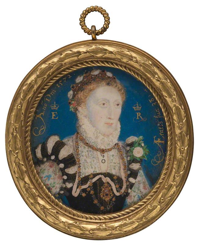 by Nicholas Hilliard, watercolour on vellum, 1572