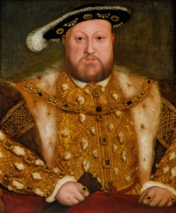 This portrait of Henry VIII is an early derivation of Holbein's original portrait of the King, painted in 1537 on the wall of the Privy Chamber at Whitehall (see RCIN 405750). It was probably painted later in the sixteenth century. Royal Collection Trust/© Her Majesty Queen Elizabeth II 2014