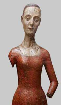 Catherine de Valois' wooden funeral effigy