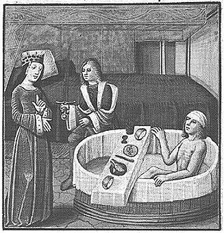 Tudor era bathing
