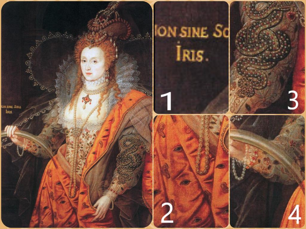 Symbolism in elizabeths portraits tudors dynasty rainbow portrait sybolism buycottarizona Choice Image