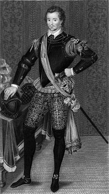 Robert Robin Dudley by Hilliard 1590