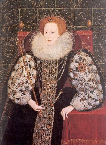 Elizabeth I, painted by John Bettes the Younger, c1580s