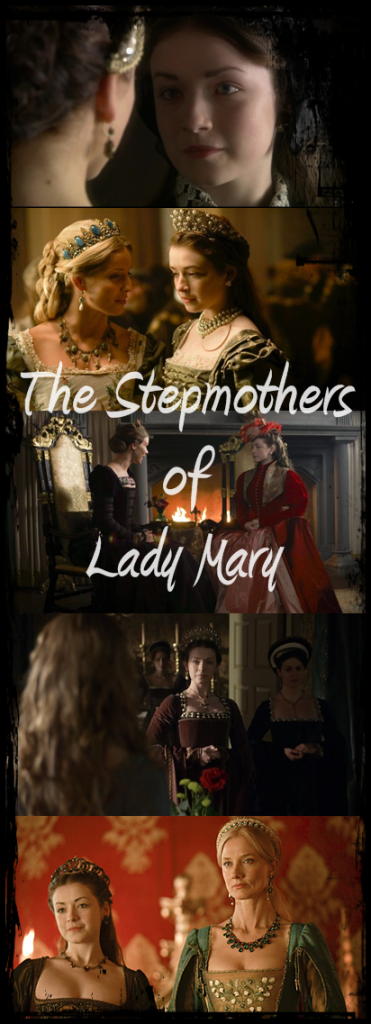 "A modern interpretation of Lady Mary's stepmother's was shown in the historical fiction series ""The Tudors."""
