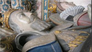 Tomb effigies of Dudley and Lettice at the Collegiate Church of St Mary, Warwick.