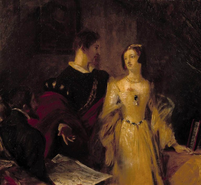 Lady Jane Grey persuaded to accept the crown; By Charles Robert Leslie