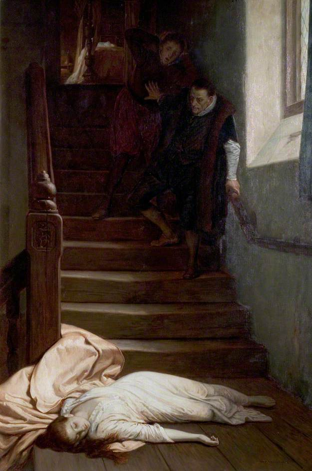 Yeames, William Frederick; The Death of Amy Robsart; Nottingham City Museums and Galleries; http://www.artuk.org/artworks/the-death-of-amy-robsart-47432