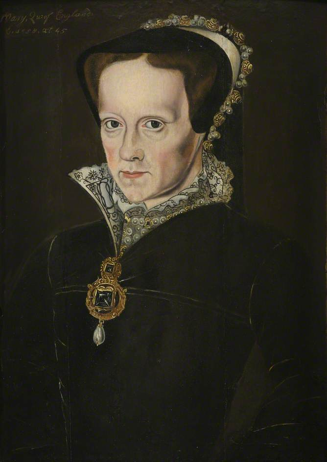 British (English) School; Mary I (1516-1558); Corpus Christi College, University of Cambridge; http://www.artuk.org/artworks/mary-i-15161558-193615
