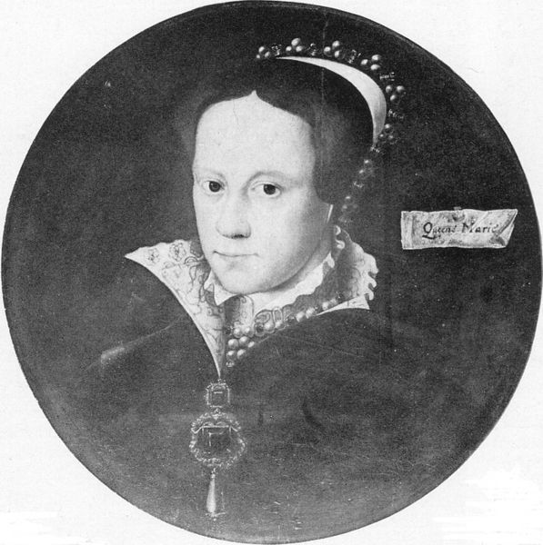 Gerlach Flicke - 1555 - Miniature of Queen Mary I (Durham College)