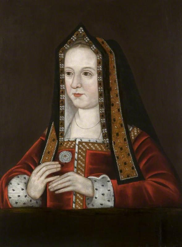 British (English) School; Elizabeth of York (1465/1466-1503), Holding the Yorkist White Rose; National Trust, Dunham Massey; http://www.artuk.org/artworks/elizabeth-of-york-146514661503-holding-the-yorkist-white-rose-130730