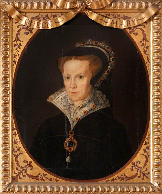 British (English) School; Mary I (1516-1558) (Mary Tudor); National Trust, Knole; http://www.artuk.org/artworks/mary-i-15161558-mary-tudor-218900