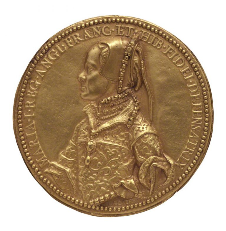 after Jacopo da Trezzo, gilt electrotype of medal, (circa 1555)