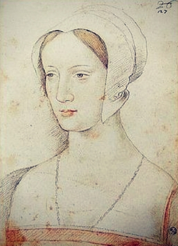 According to Jean Perréal, Mary Tudor Brandon Florence, Uffizi, Cabinet of Drawings and Prints, inv. 3911 F.