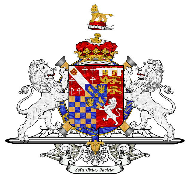Heraldic Badge of 4th Duke of Norfolk with his 2nd Wife, Margaret Audley