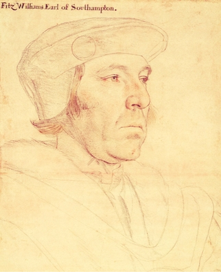 Portrait of William Fitzwilliam, Earl of Southampton, by Hans Holbein the Younger
