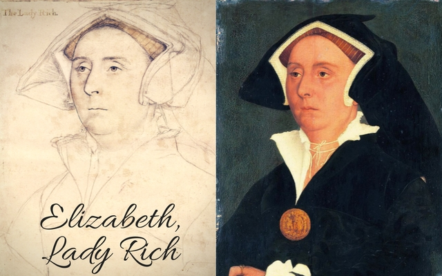 c. 1532 – c. 1543; a drawing of her husband, Richard Rich is in the Royal Collection