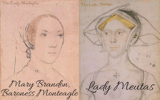 Mary Brandon, c. 1538 – c. 1540 and Lady Joan Meutas, c. 1536 – c. 1543