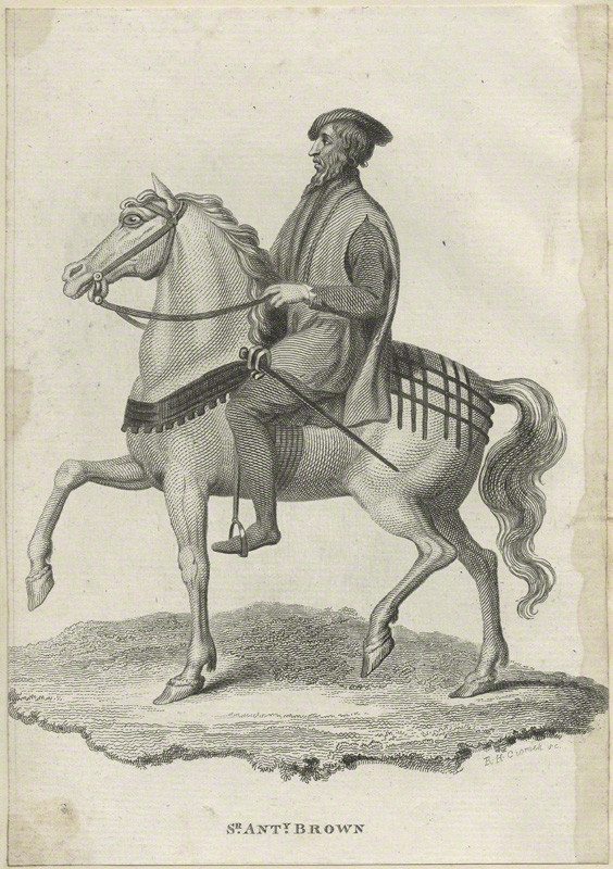 Sir Anthony Browne after Unknown artist, line engraving, possibly late 18th century NPG D24235